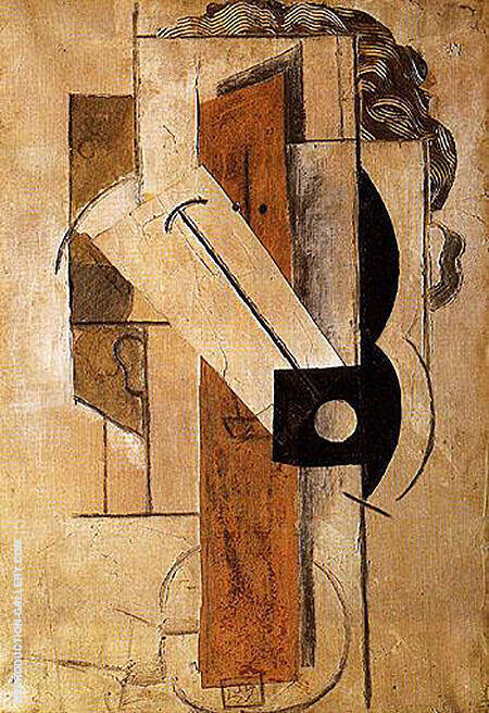 Head of a Girl 1913 By Pablo Picasso - Oil Paintings & Art Reproductions - Reproduction Gallery