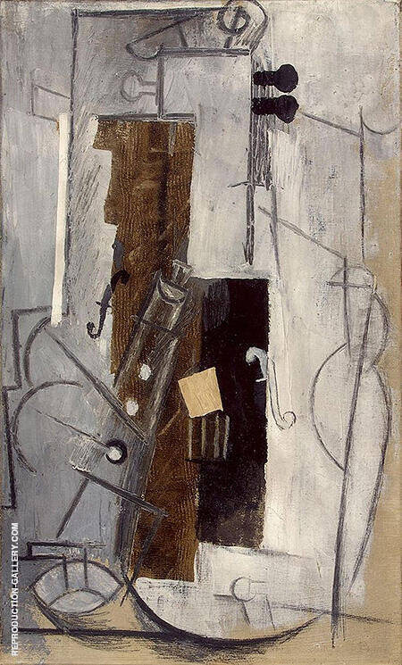 Violin and Clarinet 1913 By Pablo Picasso - Oil Paintings & Art Reproductions - Reproduction Gallery