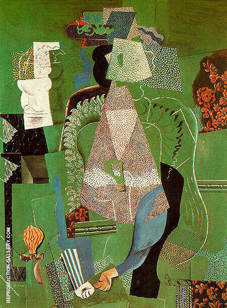 Portrait of a Young Girl 1914 By Pablo Picasso - Oil Paintings & Art Reproductions - Reproduction Gallery