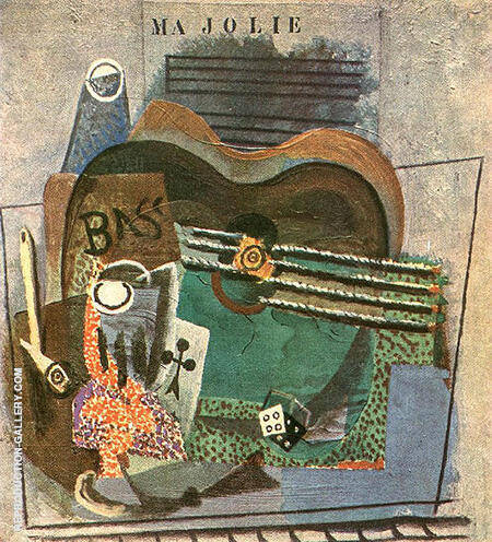 Ma Jolie 1914 By Pablo Picasso - Oil Paintings & Art Reproductions - Reproduction Gallery