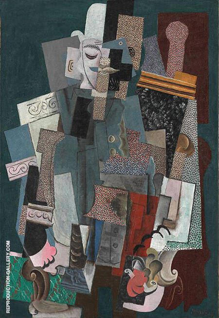 Man with a Pipe 1915 By Pablo Picasso - Oil Paintings & Art Reproductions - Reproduction Gallery