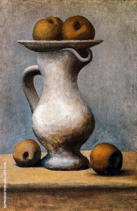 Still Life with Pitcher and Apples 1919 By Pablo Picasso - Oil Paintings & Art Reproductions - Reproduction Gallery