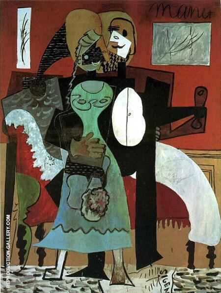 The Lovers 1919 By Pablo Picasso - Oil Paintings & Art Reproductions - Reproduction Gallery