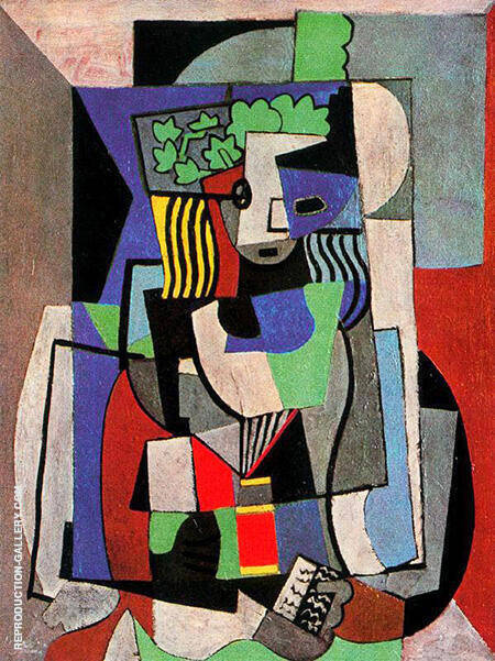 Reproduction of The Schoolgirl 1919 by Pablo Picasso | Oil Painting Replica On CanvasReproduction Gallery