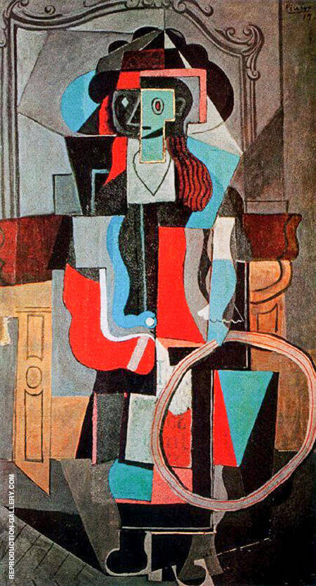 Girl with a Hoop 1919 By Pablo Picasso - Oil Paintings & Art Reproductions - Reproduction Gallery