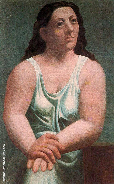 Seated Woman 1921 By Pablo Picasso - Oil Paintings & Art Reproductions - Reproduction Gallery