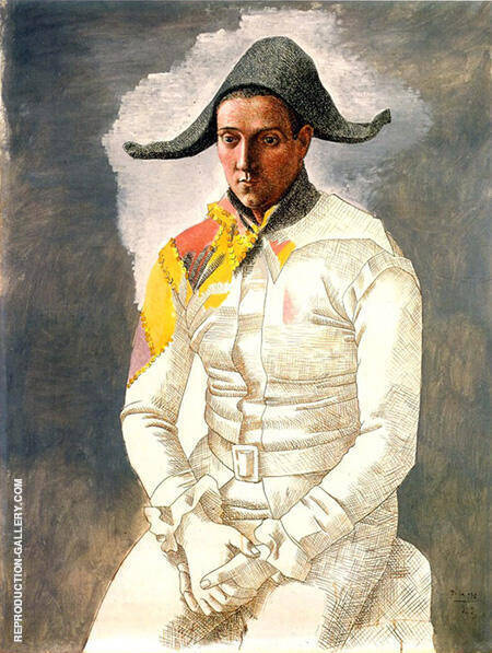 Seated Harlequin The Painter Jacinto Salvado 1923 By Pablo Picasso - Oil Paintings & Art Reproductions - Reproduction Gallery