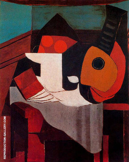 Book Bowl of Fruit and Mandolin 1924 By Pablo Picasso - Oil Paintings & Art Reproductions - Reproduction Gallery