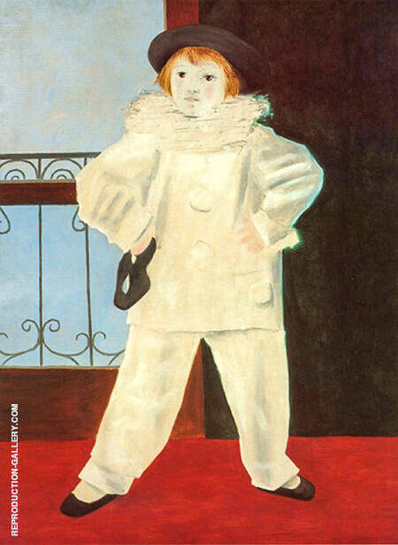 Paul Pierrot The Artists Son 1925 By Pablo Picasso - Oil Paintings & Art Reproductions - Reproduction Gallery