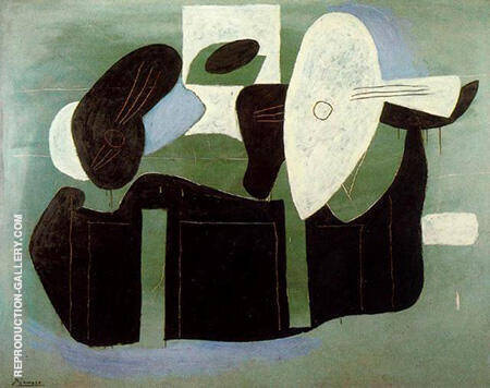 Musical Instruments on a Table 1925 By Pablo Picasso - Oil Paintings & Art Reproductions - Reproduction Gallery