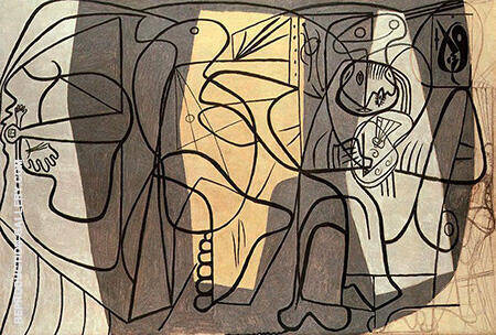 The Artist and his Model 1926 By Pablo Picasso - Oil Paintings & Art Reproductions - Reproduction Gallery