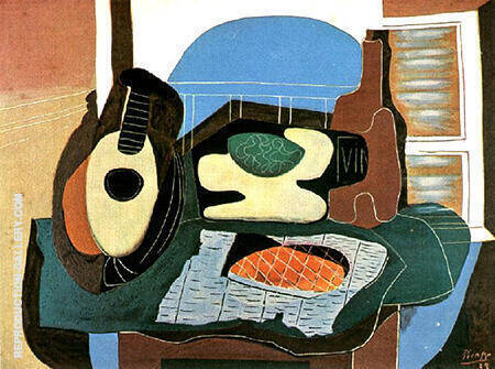 Still Life with a Cake 1924 By Pablo Picasso - Oil Paintings & Art Reproductions - Reproduction Gallery
