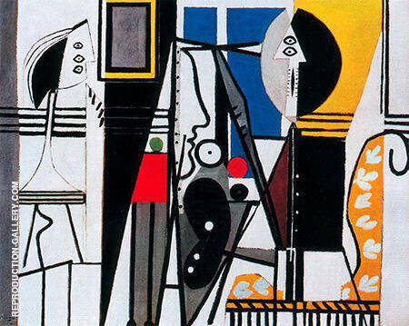 The Artist and His Model 1928 By Pablo Picasso - Oil Paintings & Art Reproductions - Reproduction Gallery