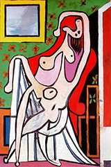 Large Nude in a Red Armchair 1929 By Pablo Picasso
