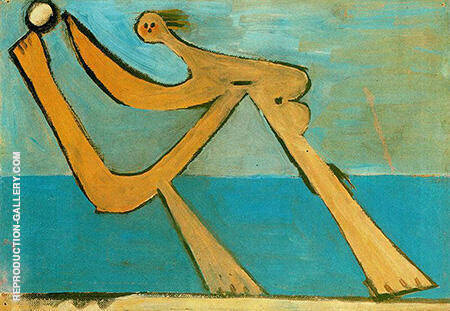 Bather 1928 By Pablo Picasso - Oil Paintings & Art Reproductions - Reproduction Gallery