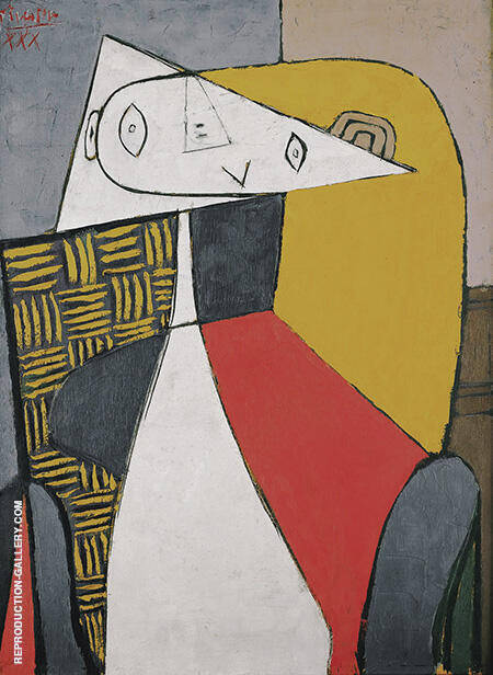 Seated Woman Figure 1930 By Pablo Picasso - Oil Paintings & Art Reproductions - Reproduction Gallery