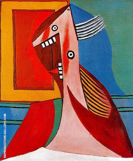 Bust of a Woman with Self portrait 1929 By Pablo Picasso - Oil Paintings & Art Reproductions - Reproduction Gallery