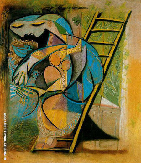 Woman with Doves 1930 By Pablo Picasso