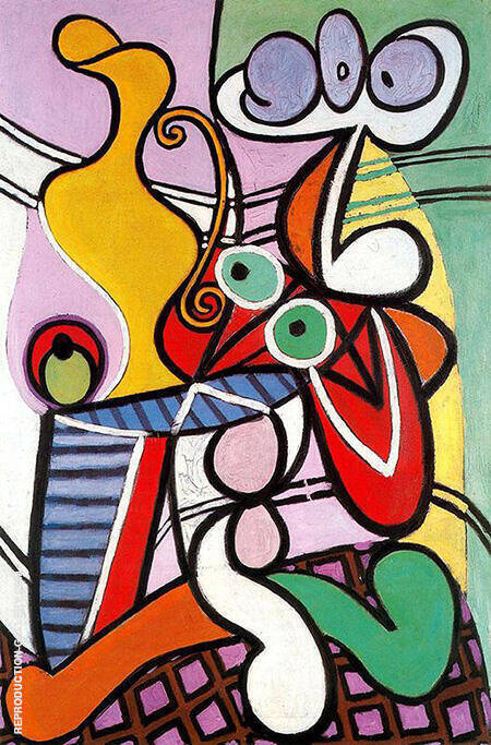 Large Still Life on a Pedestal Table 1931 By Pablo Picasso - Oil Paintings & Art Reproductions - Reproduction Gallery