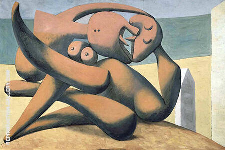 Figures at the Seashore 1931 By Pablo Picasso - Oil Paintings & Art Reproductions - Reproduction Gallery