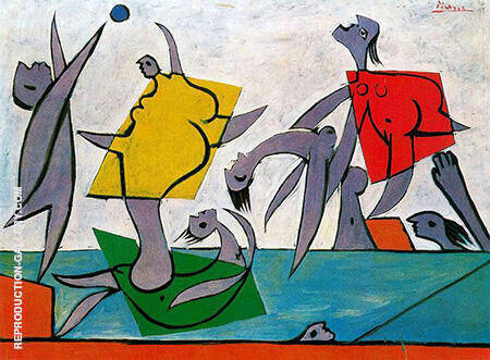 Beach Game and Rescue 1932 By Pablo Picasso - Oil Paintings & Art Reproductions - Reproduction Gallery