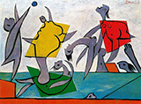 Beach Game and Rescue 1932 By Pablo Picasso