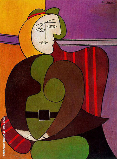 The Red Armchair 1931 By Pablo Picasso