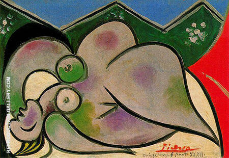 Reclining Nude A 1932 By Pablo Picasso - Oil Paintings & Art Reproductions - Reproduction Gallery