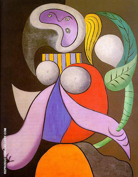 Woman with a Flower 1932 By Pablo Picasso - Oil Paintings & Art Reproductions - Reproduction Gallery