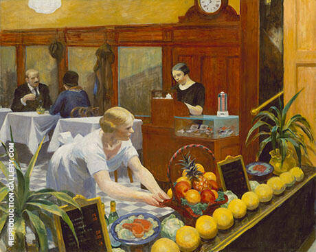 Table for Ladies 1930 By Edward Hopper - Oil Paintings & Art Reproductions - Reproduction Gallery