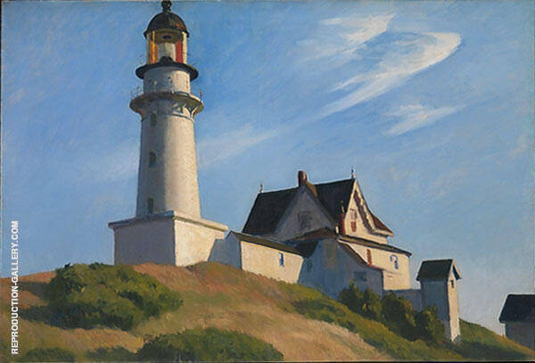Reproduction of Lighthouse at Two Lights 1929 by Edward Hopper | Oil Painting Replica On CanvasReproduction Gallery