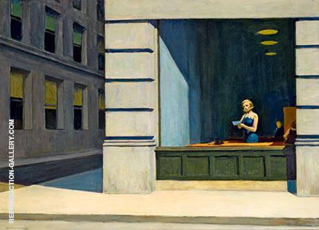 Reproduction of New York Office by Edward Hopper | Oil Painting Replica On CanvasReproduction Gallery