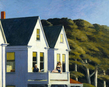 Second Storey Sunlight 1960 By Edward Hopper - Oil Paintings & Art Reproductions - Reproduction Gallery
