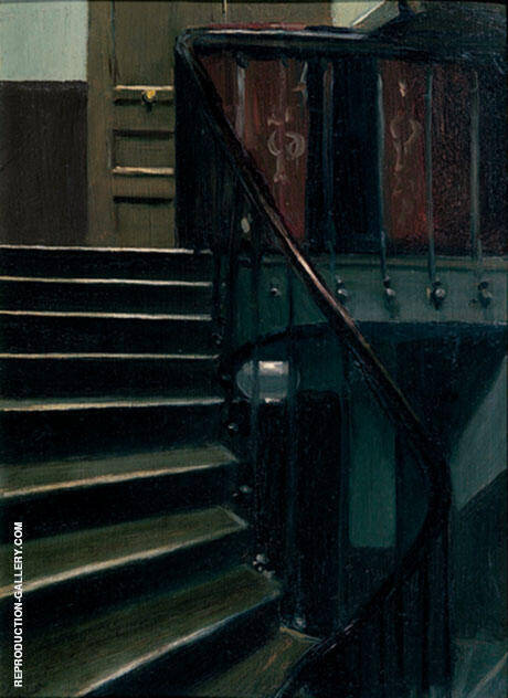 Stairway at 48 Rue de Lille Paris By Edward Hopper
