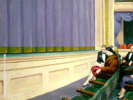 First Row Orchestra 1951 By Edward Hopper - Oil Paintings & Art Reproductions - Reproduction Gallery