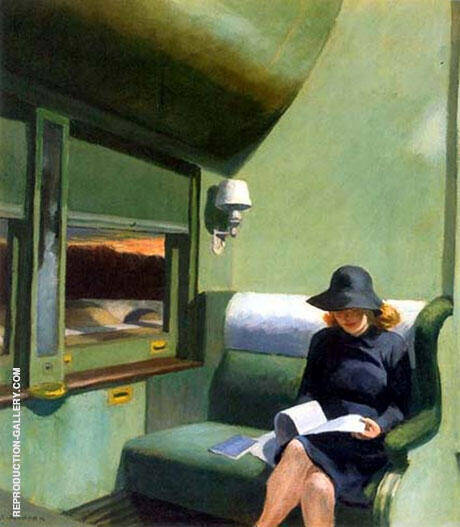 Compartment C Car 1938 By Edward Hopper - Oil Paintings & Art Reproductions - Reproduction Gallery