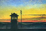 Railroad Sunset By Edward Hopper