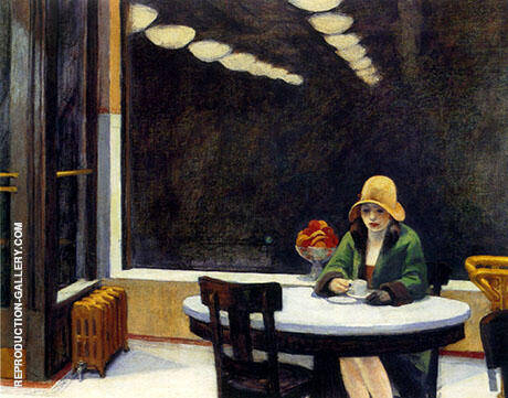 Automat 1927 By Edward Hopper Replica Paintings on Canvas - Reproduction Gallery