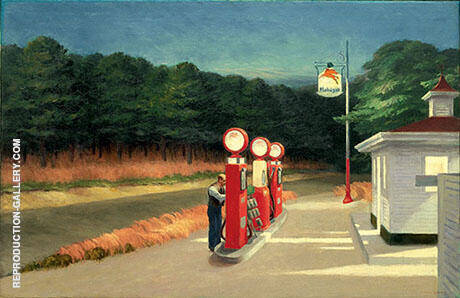Gas 1940 Painting By Edward Hopper - Reproduction Gallery