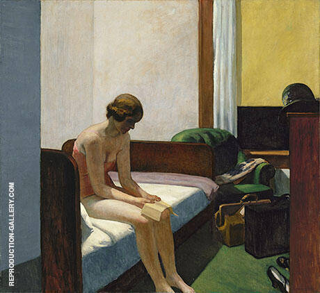 Hotel Room 1931 By Edward Hopper - Oil Paintings & Art Reproductions - Reproduction Gallery