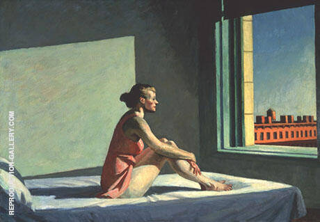Morning Sun 1952 By Edward Hopper Replica Paintings on Canvas - Reproduction Gallery