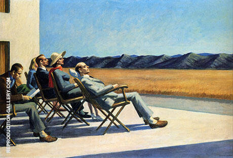 People in the Sun By Edward Hopper - Oil Paintings & Art Reproductions - Reproduction Gallery