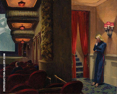 New York Movie Theatre By Edward Hopper