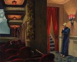 New York Movie Theatre By Edward Hopper