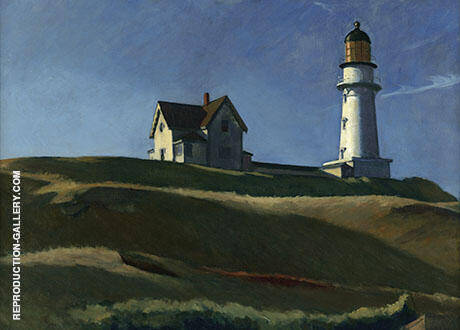 Light House Hill By Edward Hopper Replica Paintings on Canvas - Reproduction Gallery