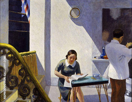 The Barber Shop 1931 By Edward Hopper - Oil Paintings & Art Reproductions - Reproduction Gallery