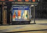 Drug Store 1927 By Edward Hopper