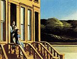 Sunlight on Brownstones 1956 By Edward Hopper