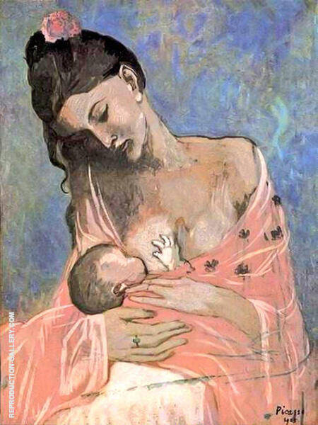 Maternity 1909 By Pablo Picasso - Oil Paintings & Art Reproductions - Reproduction Gallery
