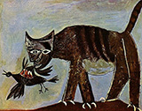 Cat Catching a Bird 1939 By Pablo Picasso